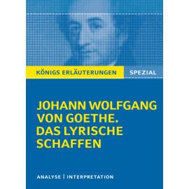 Goethe. Das lyrische Schaffen.