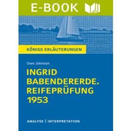 Ingrid Babendererde. Reifeprüfung 1953
