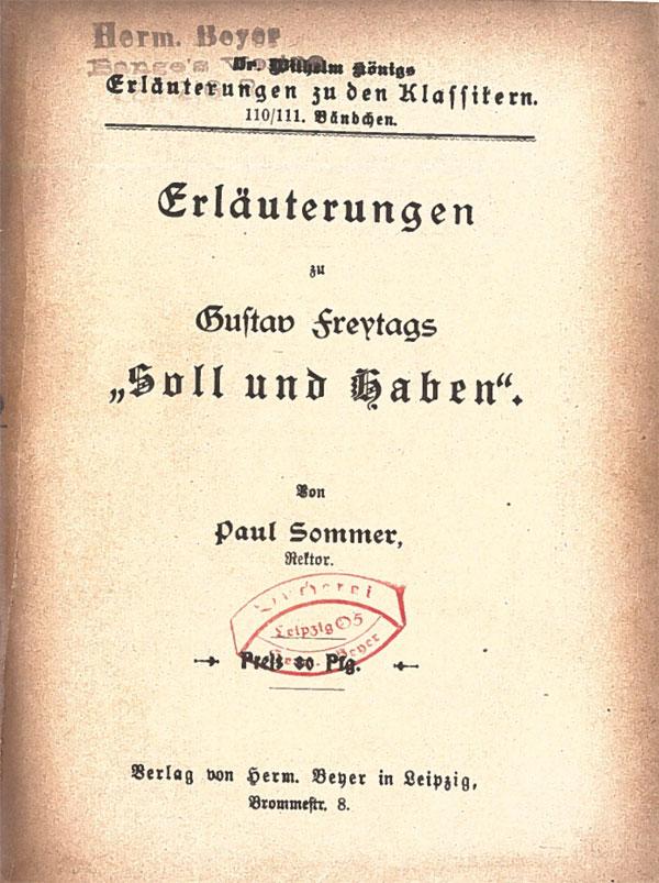 Titelcover Soll und Haben von Gustav Freytag Königs Erläuterungen