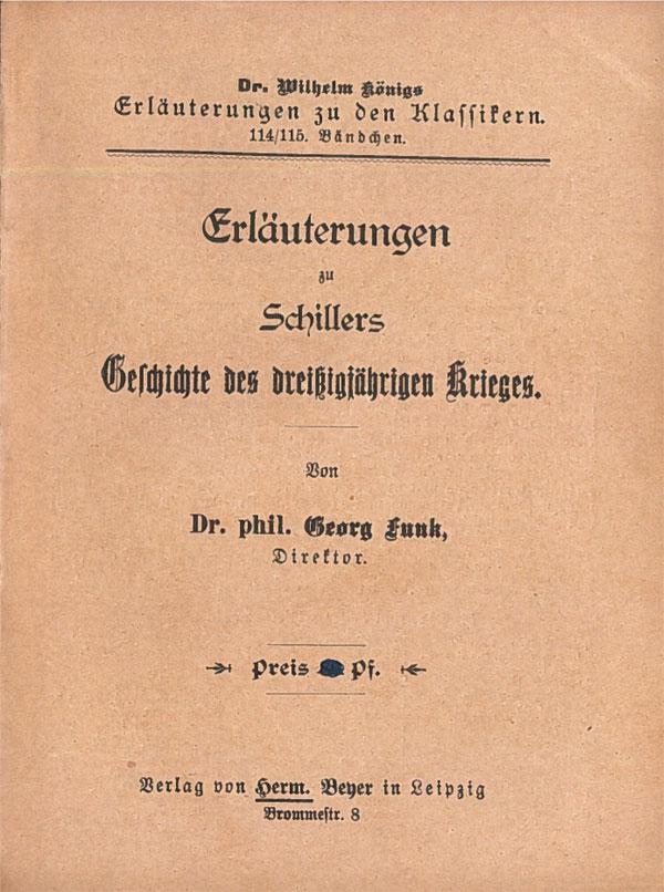 Titelcover Geschichte des dreißigjährigen Krieges Schiller  Königs Erläuterungen