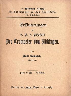 Titelcover Der Trompeter von Säckingen Scheffel Königs Erläuterungen