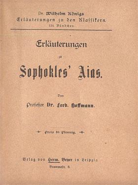 Titelcover Aias Sophokles Königs Erläuterungen