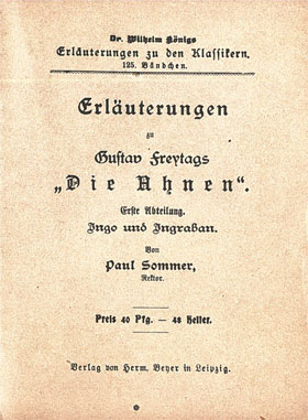Titelcover Die Ahnen Freytag Königs Erläuterungen
