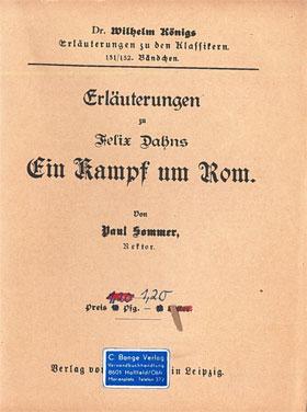 Titelcover Kampf um Rom Dahn Königs Erläuterungen