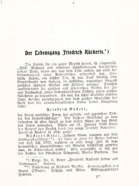Musterseite Gedichte Rückert Königs Erläuterungen