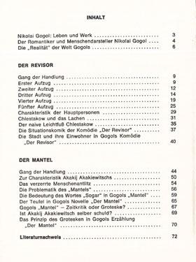 Musterseite Revisor Mantel Gogol Königs Erläuterungen
