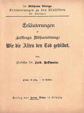 Titelcover Alten Tod Lessing Königs Erläuterungen