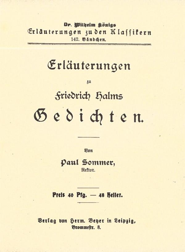 Titelcover Gedichte Halm Königs Erläuterungen