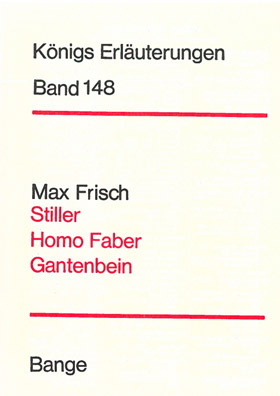 Titelcover Homo faber Frisch Königs Erläuterungen