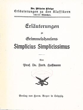 Titelcover Simplicissimus von Grimmelshausen Königs Erläuterungen