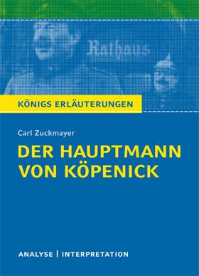 Titelcover Hauptmann Köpenick Zuckmayer Königs Erläuterungen