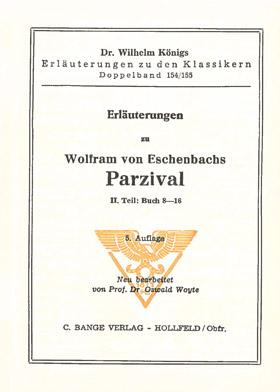 Titelcover Parzival Eschenbach Königs Erläuterungen