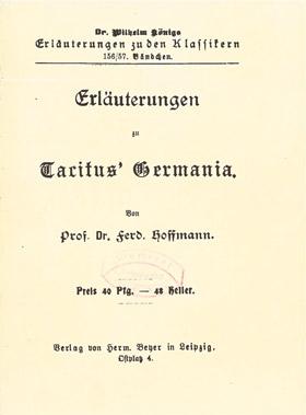 Titelcover Germania Tacitus Königs Erläuterungen