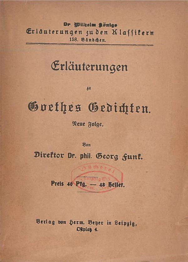 Titelcover Goethe Lyrik Gedichte Königs Erläuterungen