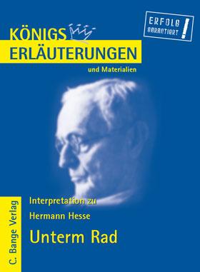 Titelcover Unterm Rad Hesse Königs Erläuterungen