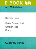 Titelcover Knulp Peter Camenzind Unterm Rad Hesse Königs Erläuterungen